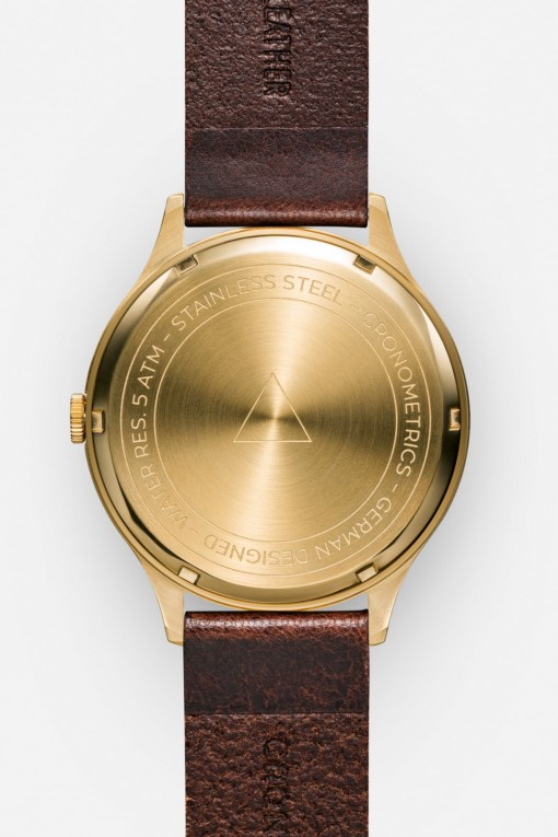 CRONOMETRICS Architect L17 gold watch (back view)