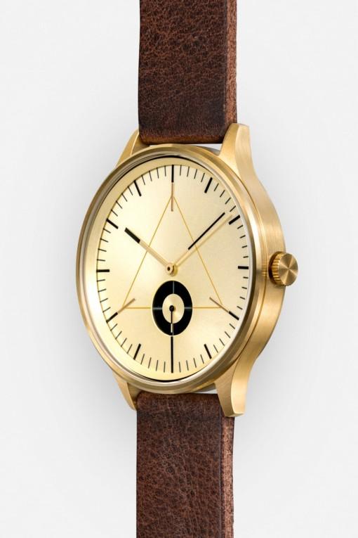 CRONOMETRICS Architect L17 gold watch (side view)