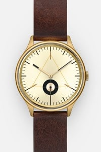 CRONOMETRICS Architect L17 gold watch (front view)