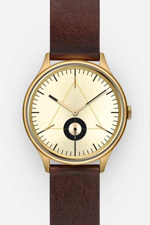 CRONOMETRICS Architect L17 gold watch (front view)