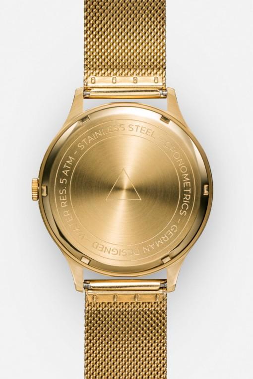 CRONOMETRICS Architect S17 gold watch (back view)