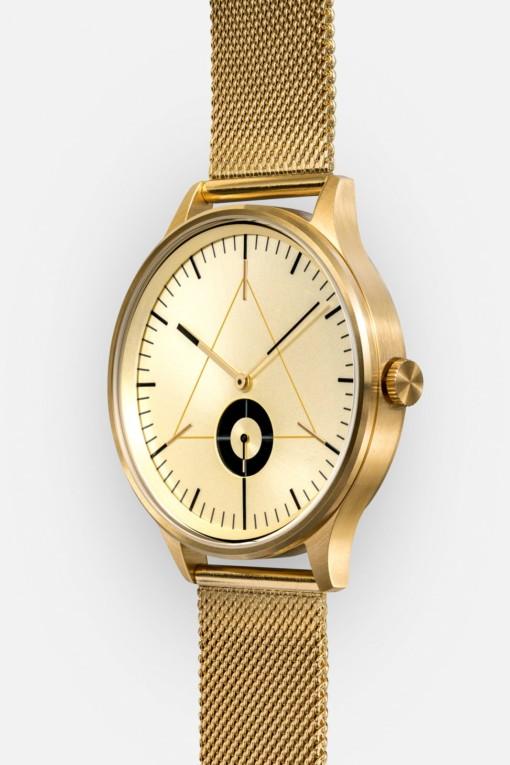 CRONOMETRICS Architect S17 gold watch (side view)