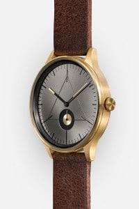 CRONOMETRICS Architect L14 gold / gunmetal watch (side view)
