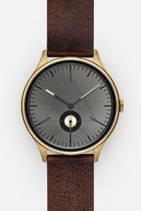 CRONOMETRICS Architect L14 gold / gunmetal watch (front view)