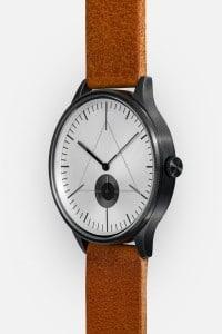 CRONOMETRICS Architect L16 gunmetal / chrome watch (side view)