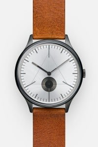CRONOMETRICS Architect L16 gunmetal / chrome watch (front view)