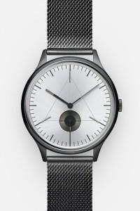 CRONOMETRICS Architect S16 gunmetal / chrome watch (front view)