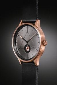 CRONOMETRICS Architect L10 rose gold / gunmetal watch (side view)