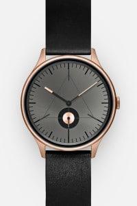CRONOMETRICS Architect L10 rose gold / gunmetal watch (front view)
