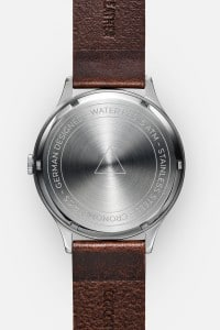 CRONOMETRICS Architect L9 stainless steel watch (back view)