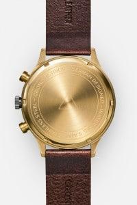 CRONOMETRICS Engineer L19 gold / gunmetal watch (back view)