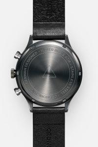 CRONOMETRICS Engineer L8 gunmetal / chrome watch (back view)