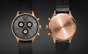 CRONOMETRICS Engineer L6 rose gold / gunmetal watch.