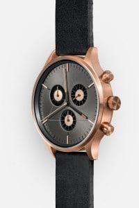 CRONOMETRICS Engineer L6 rose gold / gunmetal watch (side view)