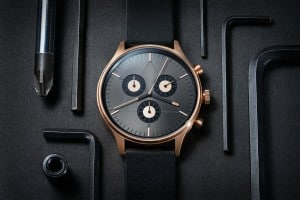 CRONOMETRICS Engineer L6 rose gold / gunmetal watch