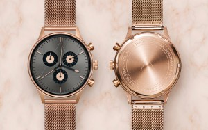 CRONOMETRICS Engineer S6 rose gold / gunmetal watch.