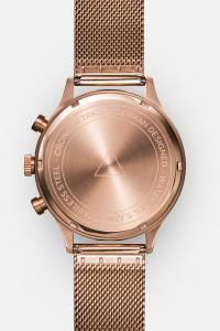 CRONOMETRICS Engineer S6 rose gold / gunmetal watch (back view)
