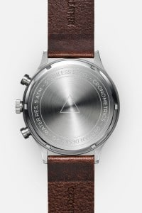 CRONOMETRICS Engineer L12 stainless steel watch (back view)