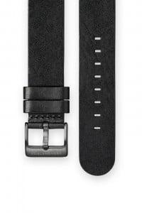 The CRONOMETRICS black genuine Italian leather strap