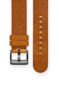 The CRONOMETRICS brown genuine Italian leather strap