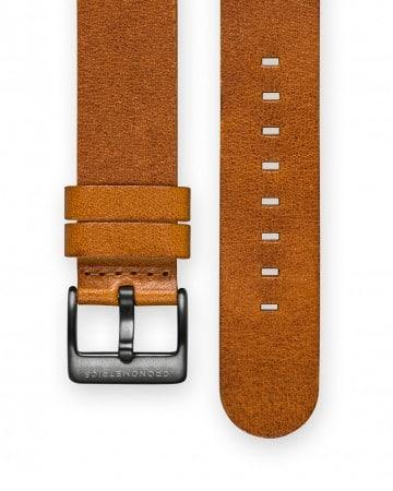 The CRONOMETRICS brown genuine Italian leather strap
