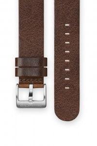 The CRONOMETRICS dark brown genuine Italian leather strap