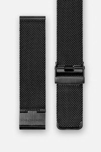 The CRONOMETRICS stainless steel Milanese strap in black