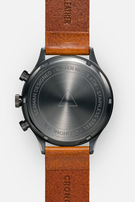 CRONOMETRICS Engineer L21 gunmetal watch (back view)