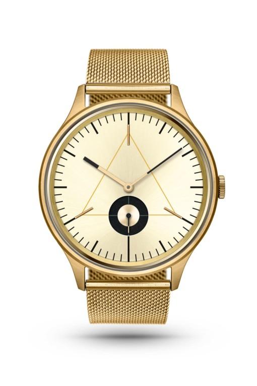 CRONOMETRICS Architect S17 gold watch (front view)
