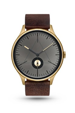 CRONOMETRICS Architect L14 gold / gunmetal watch (front view)