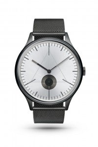 CRONOMETRICS Architect S16 gunmetal / chrome watch (front view)
