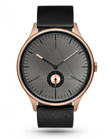 CRONOMETRICS Architect L10 rose gold / gunmetal watch (front view)