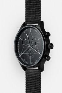 CRONOMETRICS Engineer black watch (diagonal view)