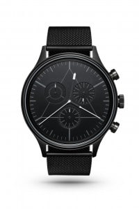 CRONOMETRICS Engineer black watch (front view)