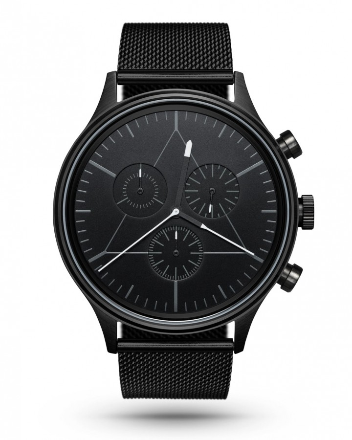 CRONOMETRICS Engineer black watch (front view)