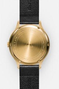 CRONOMETRICS Architect L17 gold watch (back view)