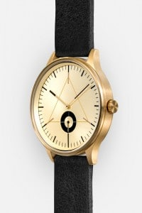 CRONOMETRICS Architect L17 gold watch (diagonal view)