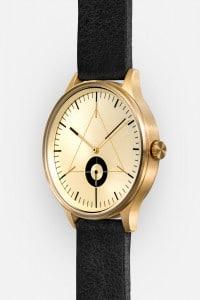 CRONOMETRICS Architect L17 gold watch (diagonal view)