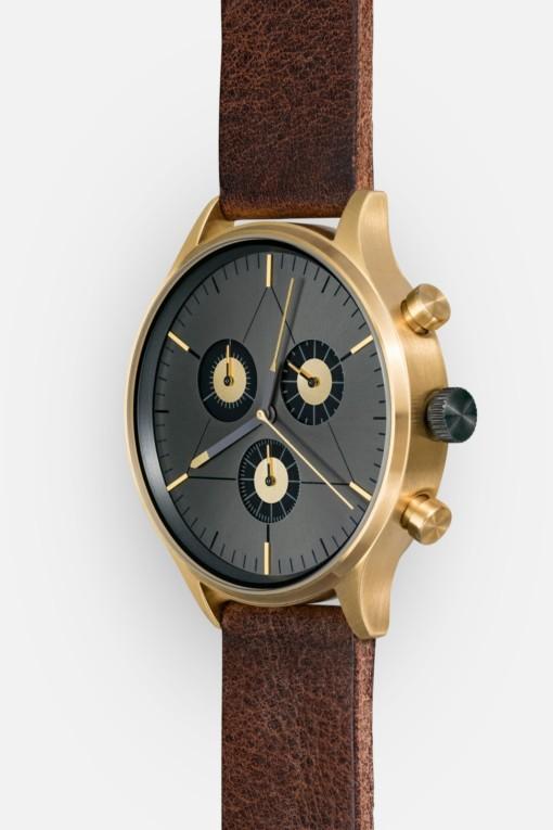 CRONOMETRICS Engineer L19 gold / gunmetal watch (side view)