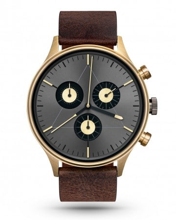CRONOMETRICS Engineer L19 gold / gunmetal watch (front view)