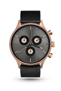 CRONOMETRICS Engineer L6 rose gold / gunmetal watch (front view)