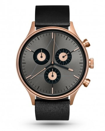 CRONOMETRICS Engineer L6 rose gold / gunmetal watch (front view)