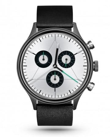 CRONOMETRICS Engineer L8 gunmetal watch (front view)