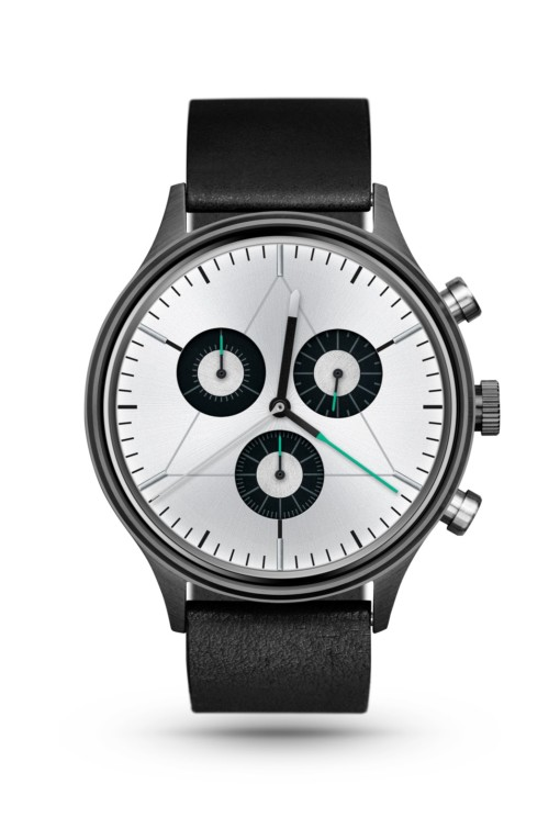 CRONOMETRICS Engineer L8 gunmetal watch (front view)