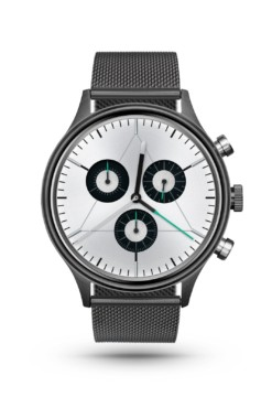 CRONOMETRICS Engineer S8 gunmetal / chrome watch (front view)